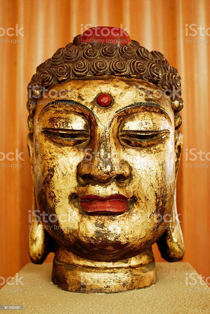 Buddha Head Portrait royalty-free stock photo