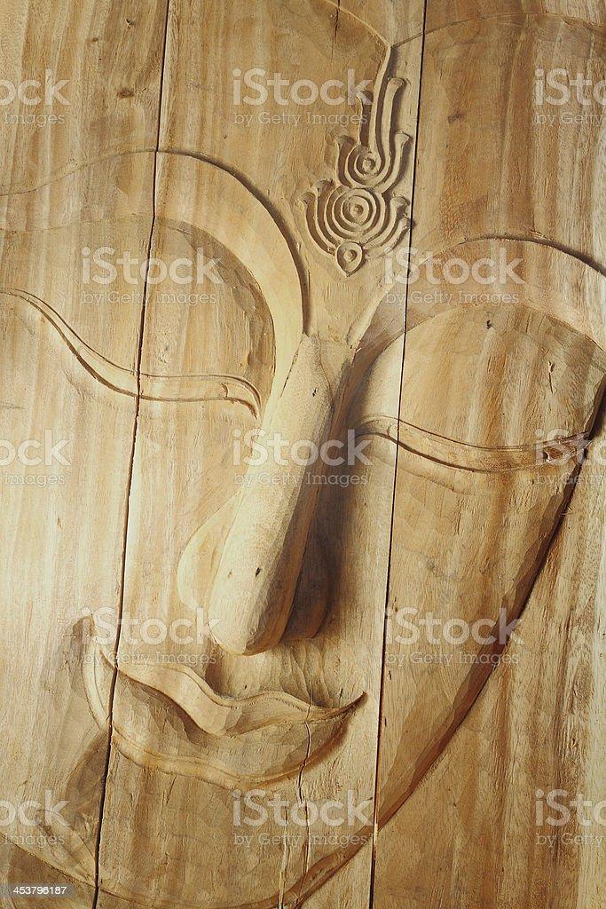 Głowa Statua Buddy z bliska zbiór zdjęć royalty-free