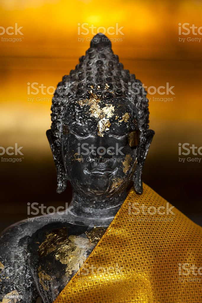 Buddha Image Covered in Gold Leaf royalty-free stock photo