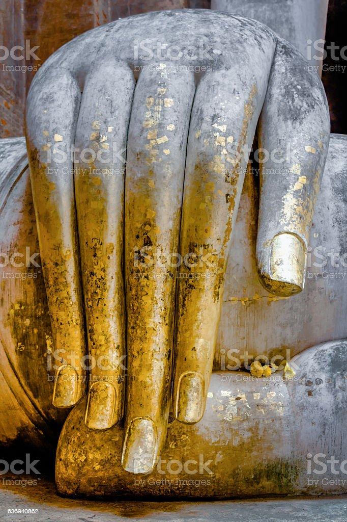 Buddha Image in Sukhothai, Thailand stock photo