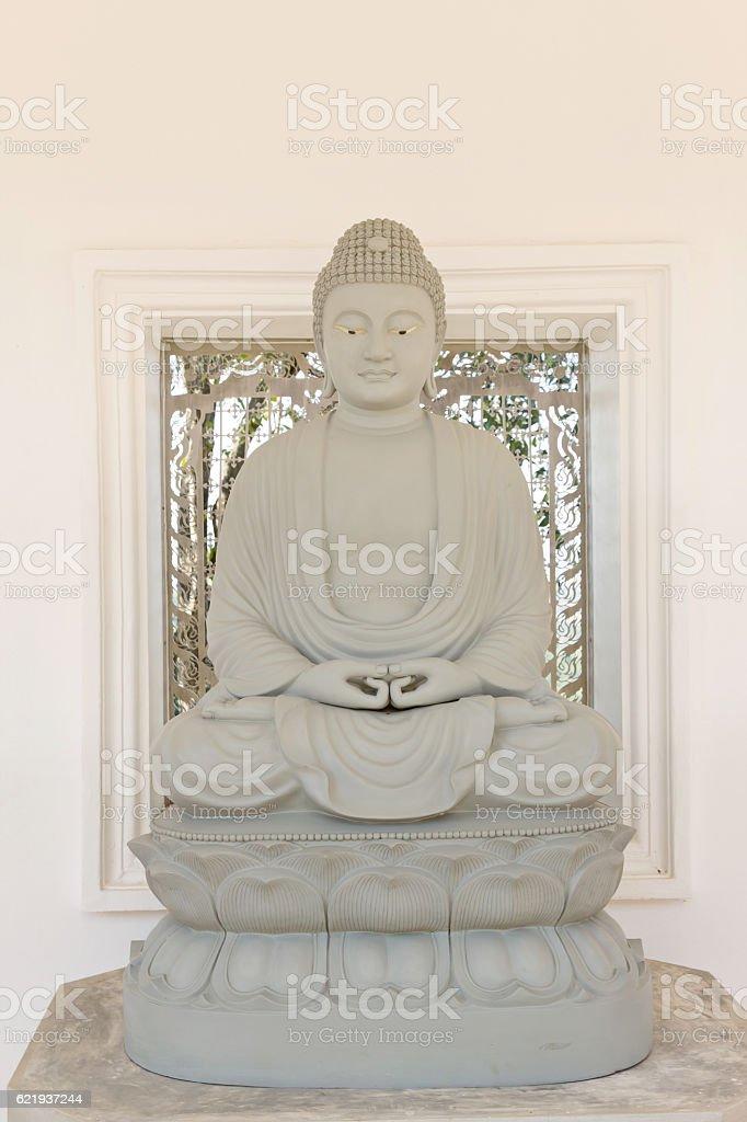 Buddha image in Thai temple stock photo