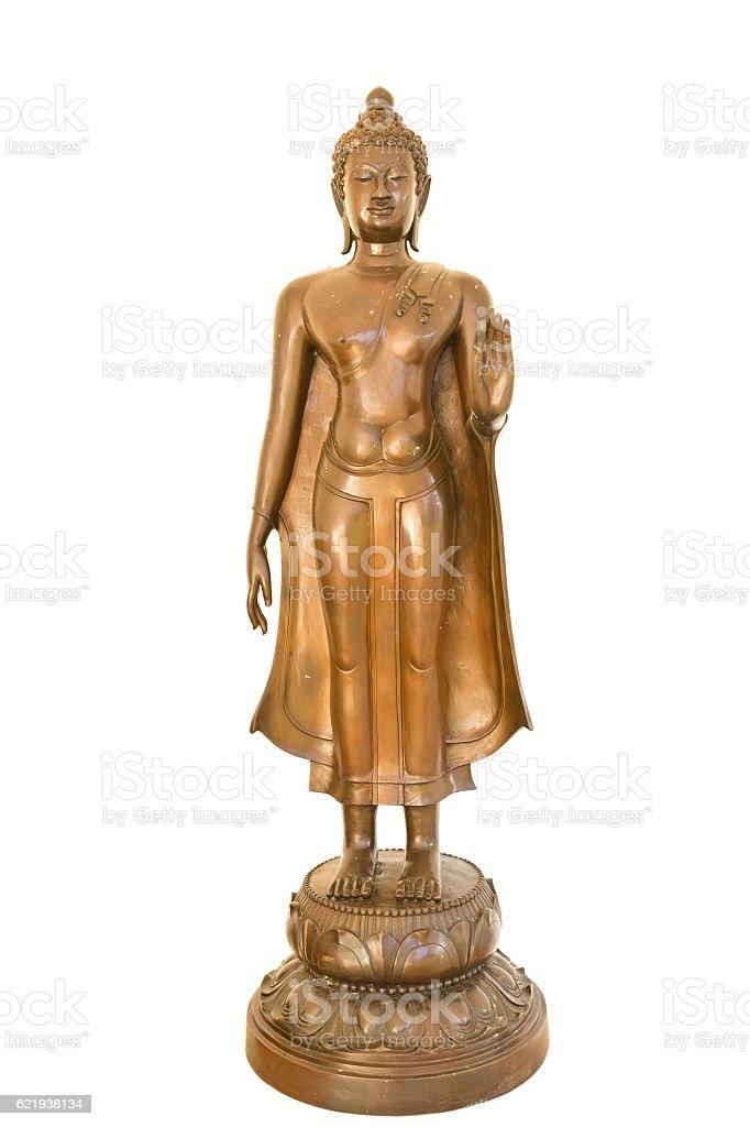 Buddha image isolate stock photo