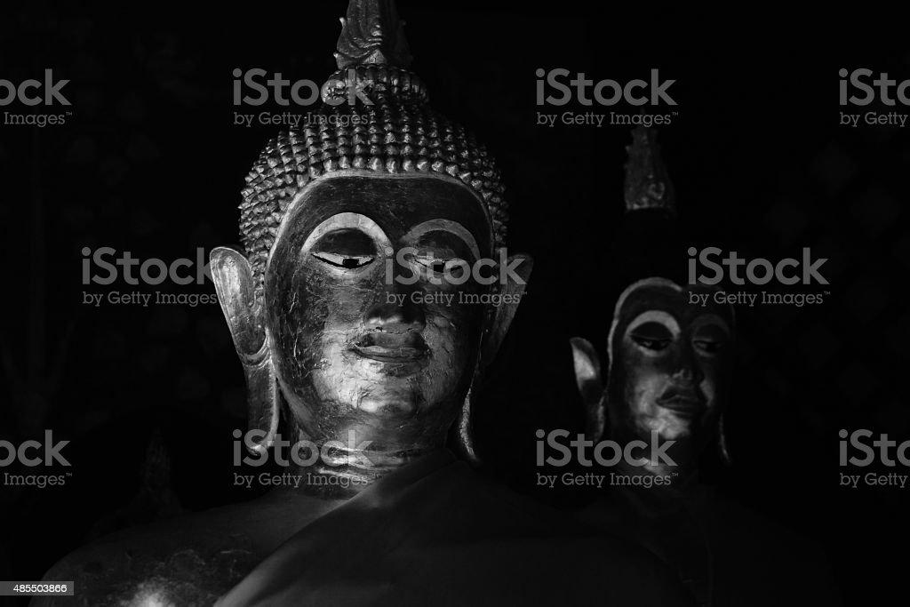 Buddha Image On Black and White royalty-free stock photo