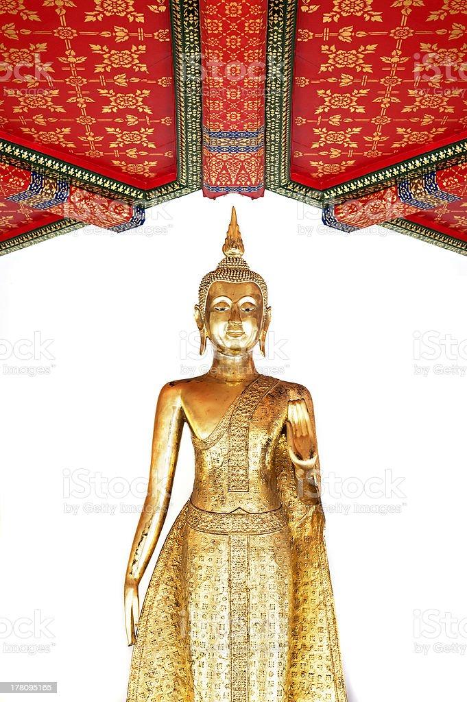 Buddha image style stand royalty-free stock photo
