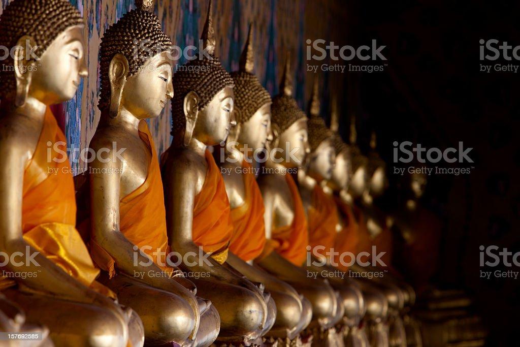 Buddha images at Wat Arun, Bangkok, Thailand. royalty-free stock photo