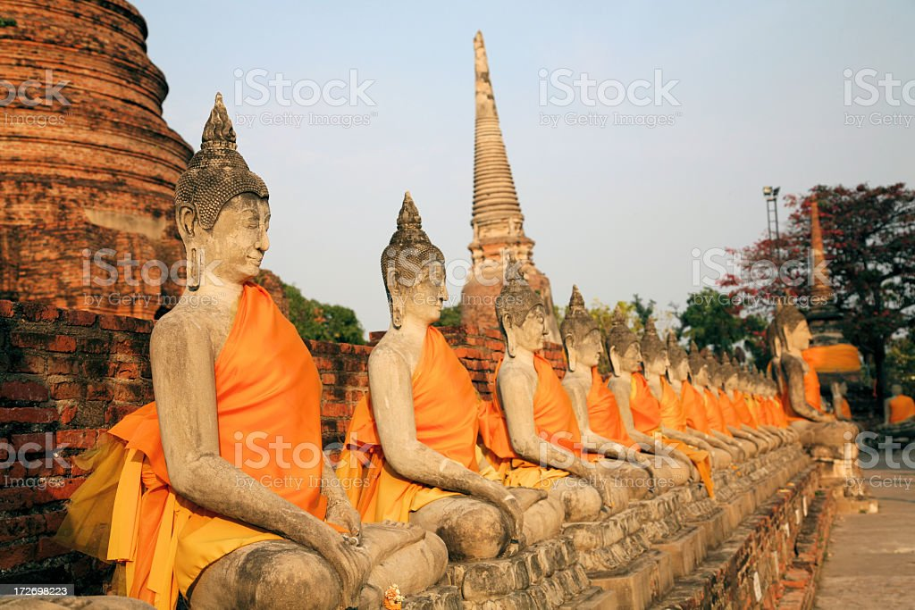 Buddha images in Ayutthaya, Thailand stock photo