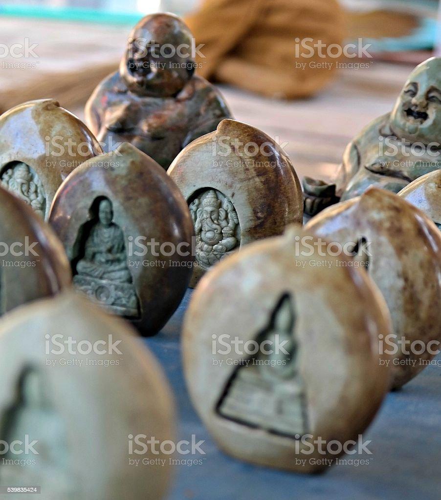 Buddha in a stone stock photo