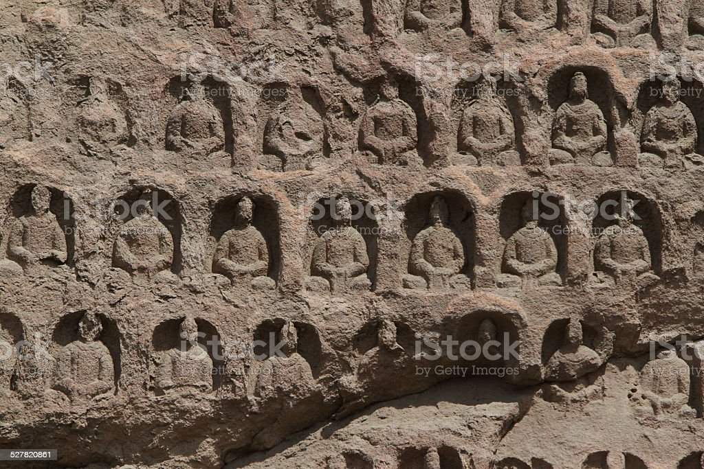 Buddha in den Tempelgrotten von Yungang bei Datong in China stock photo