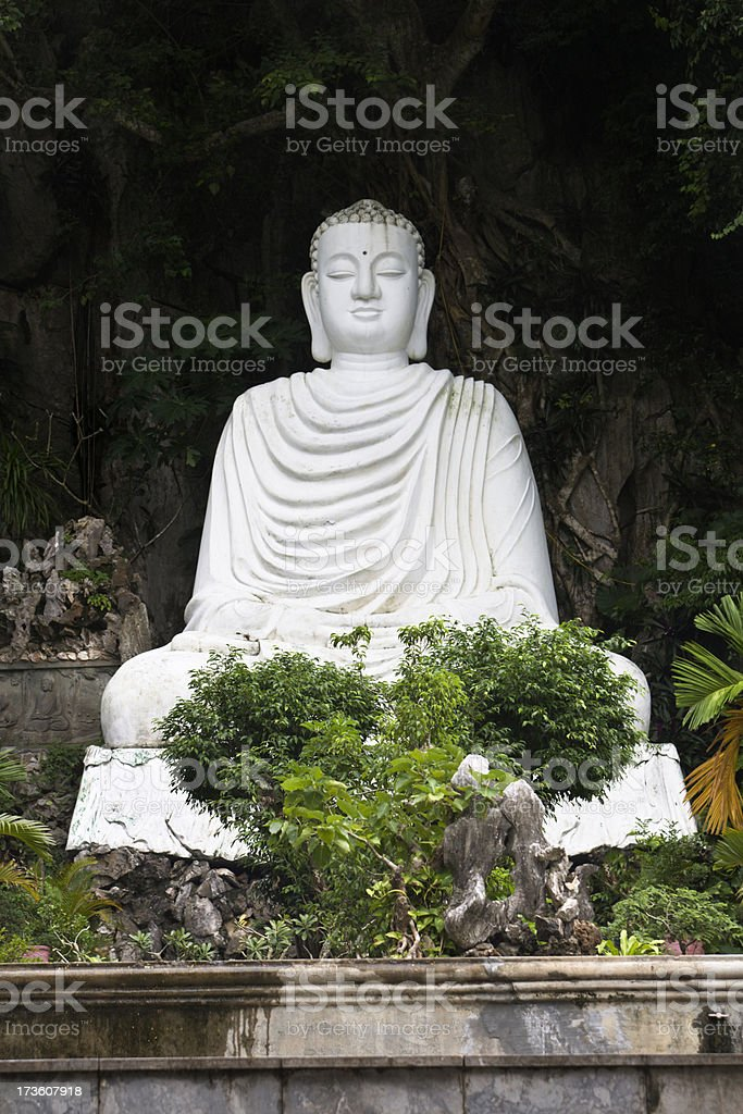 Buddha in Marble Mountain royalty-free stock photo