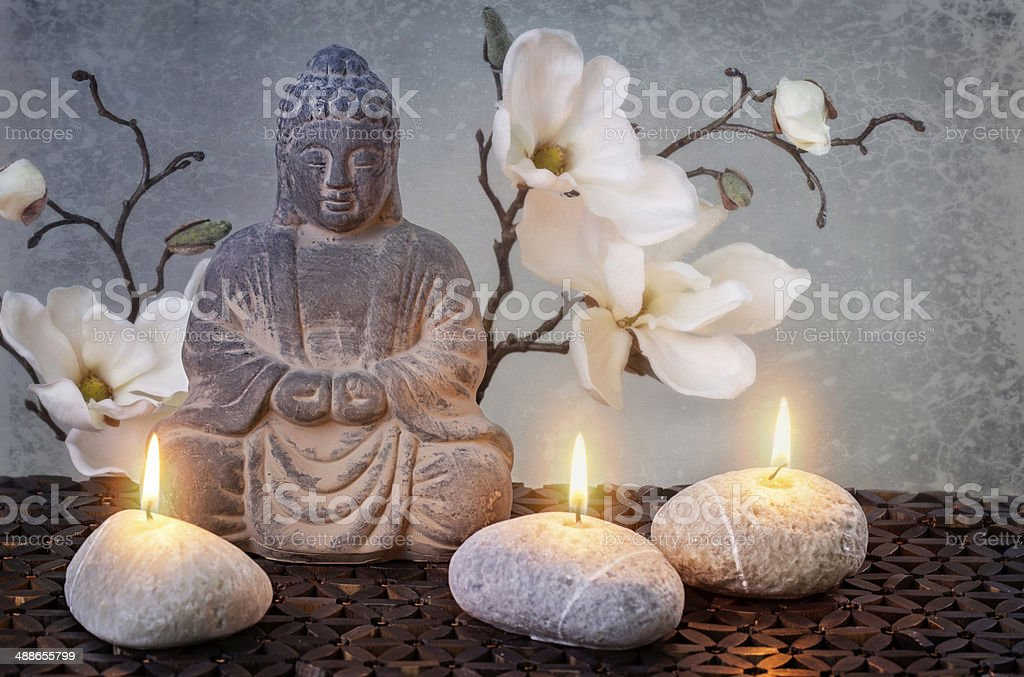 Buddha in meditation stock photo