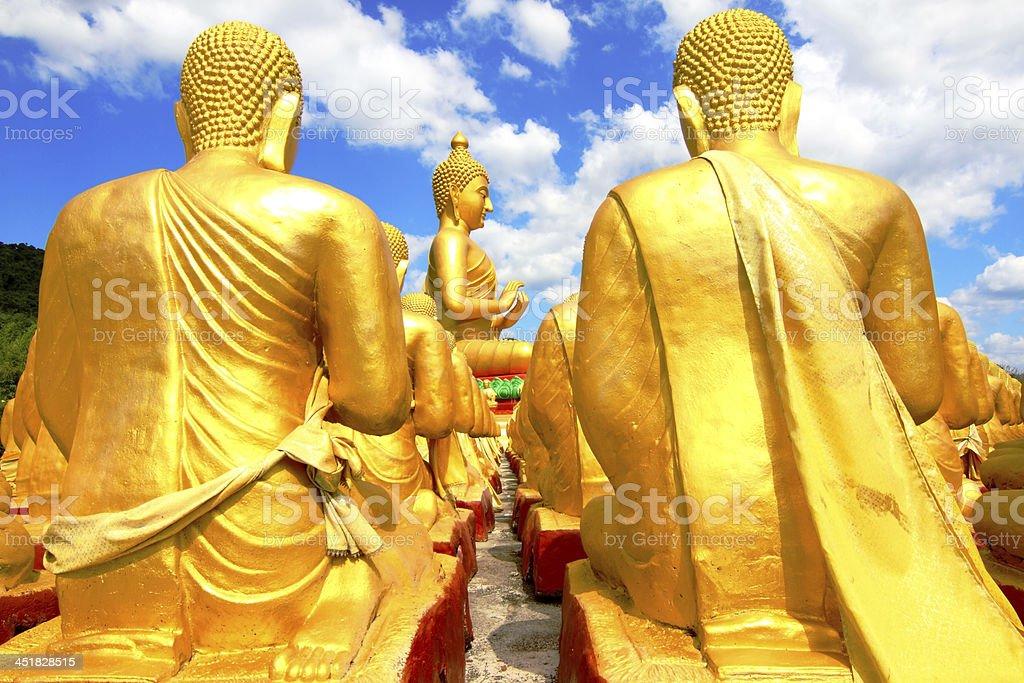 Buddha in Thailand A place of public worship. stock photo