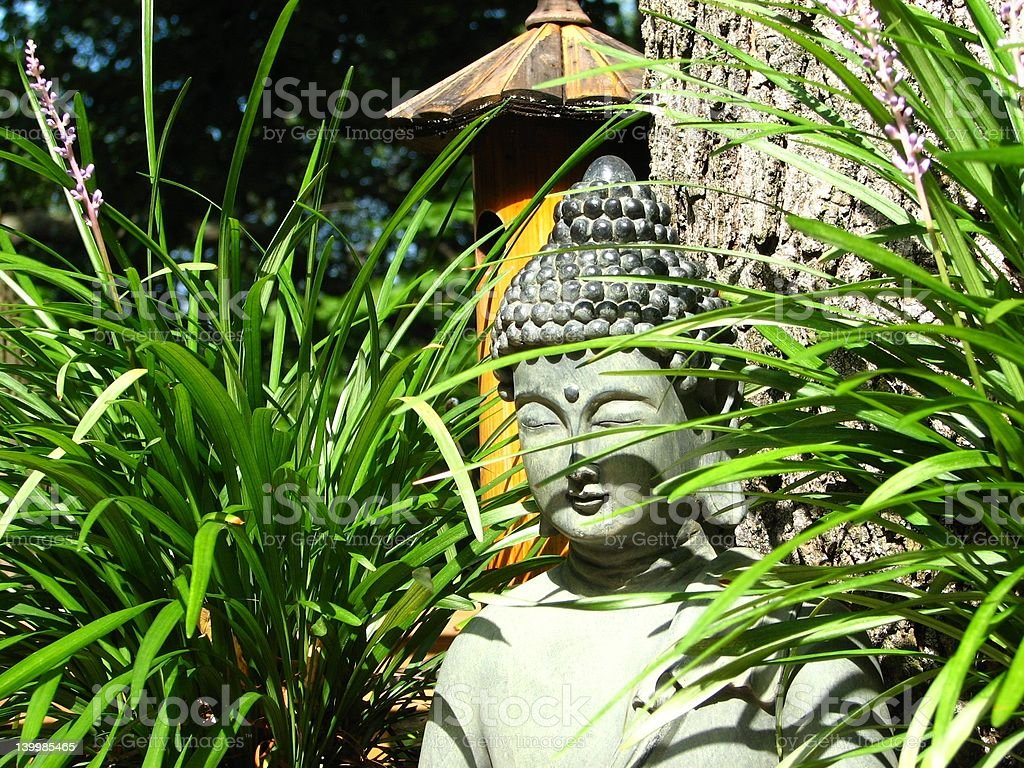 Buddha in the Grass royalty-free stock photo
