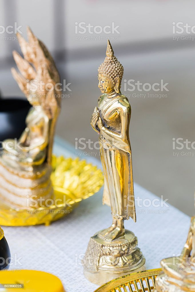 Buddha in the temple of Thailand royalty-free stock photo