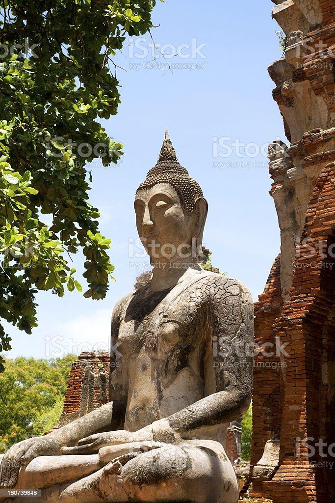Buddha in Wat Mahathat stock photo