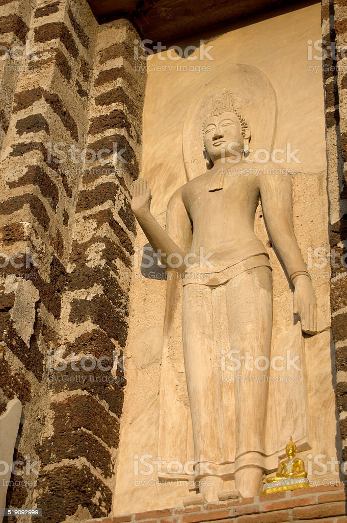 Buddha in Wat Ratchaburana temple, Ayutthaya Historical Park, Ph stock photo