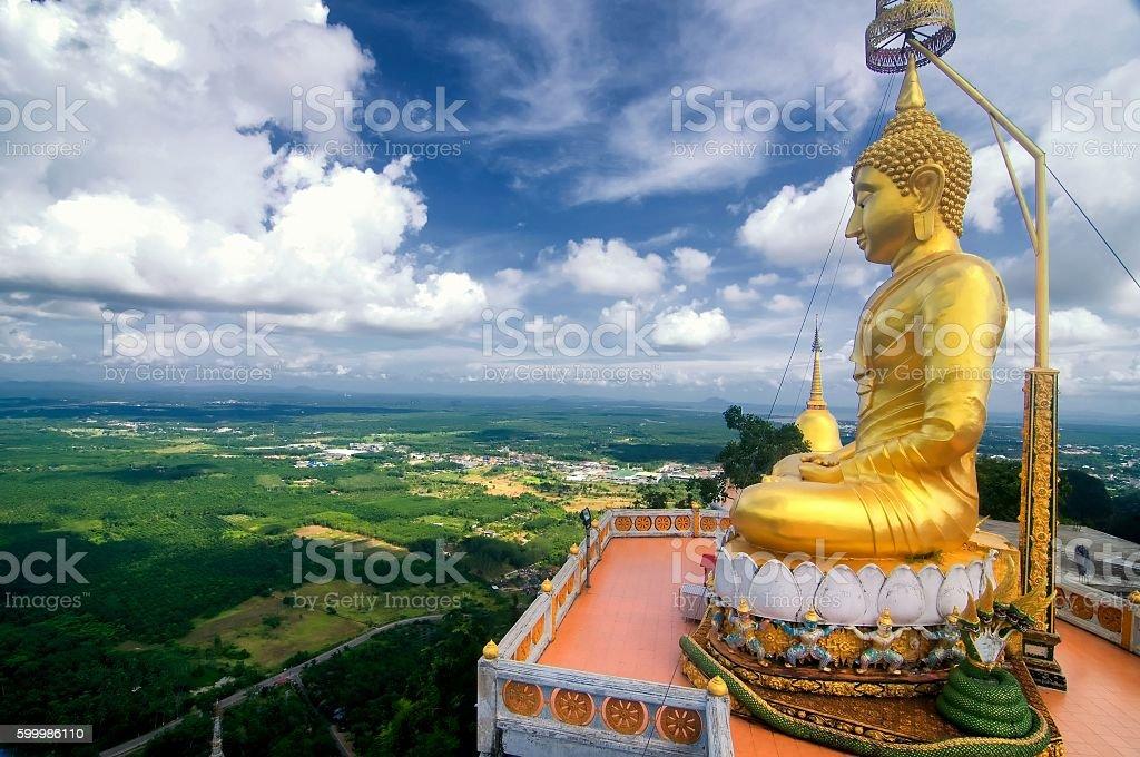Buddha in Wat Tham Seua (Tiger Cave), Krabi, Thailand stock photo
