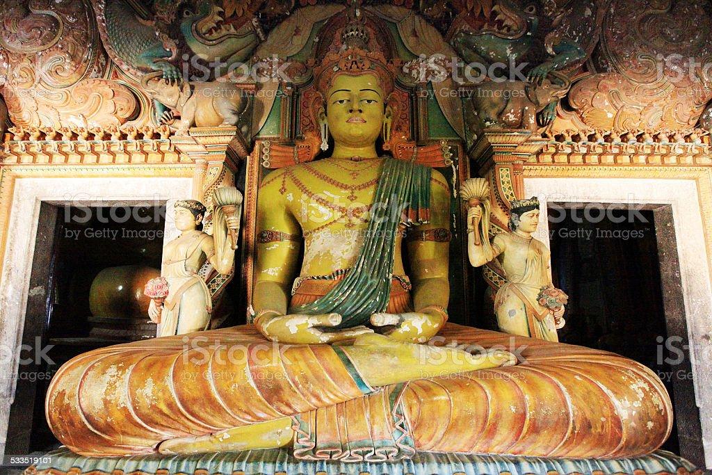 Buddha in Wewurukannala Vihara near Dikwella, Sri Lanka stock photo