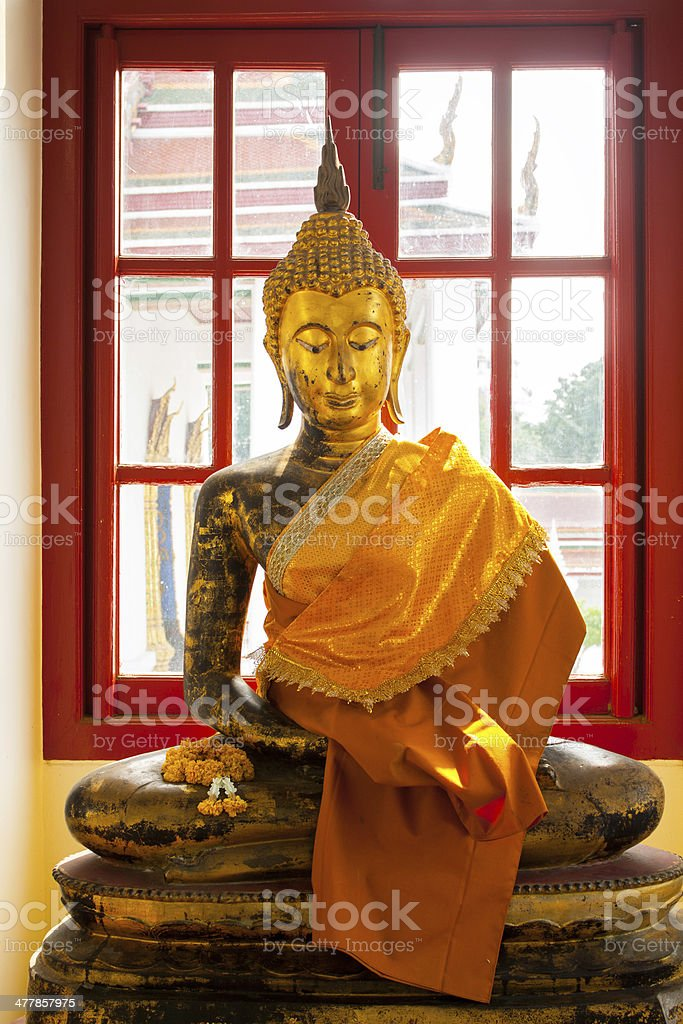 Buddha in window royalty-free stock photo
