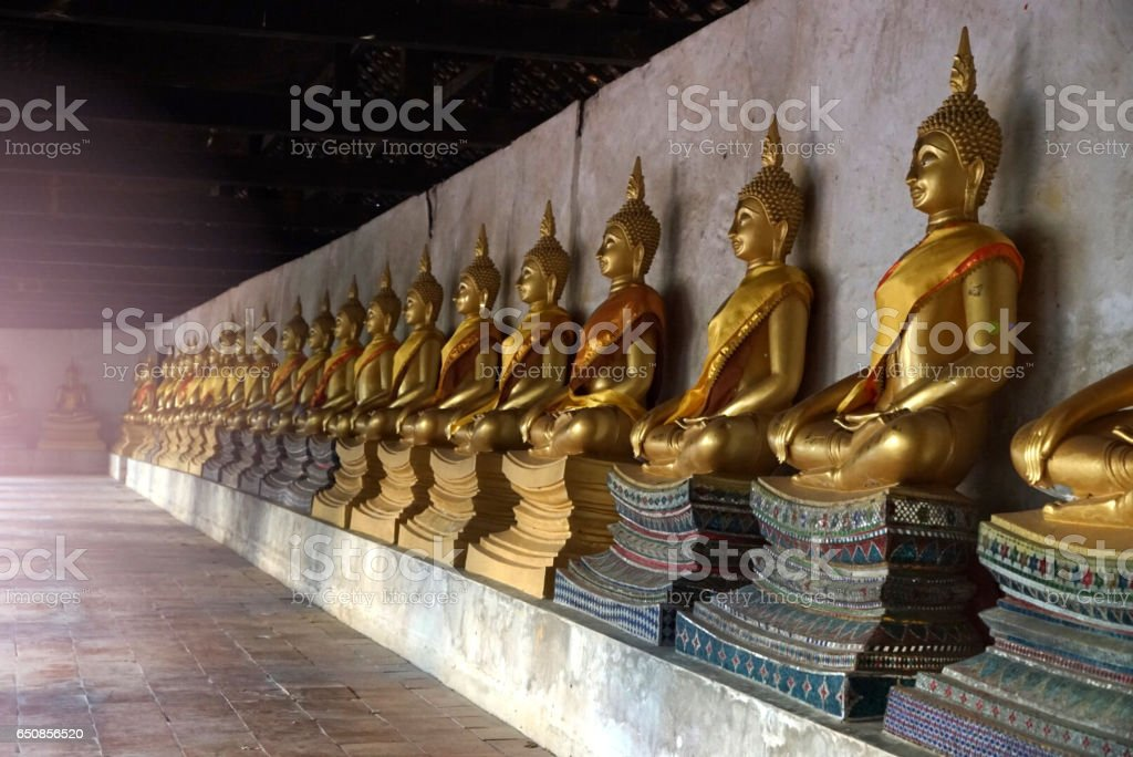 Buddha is a very old symbol of faith. Respect for religion stock photo