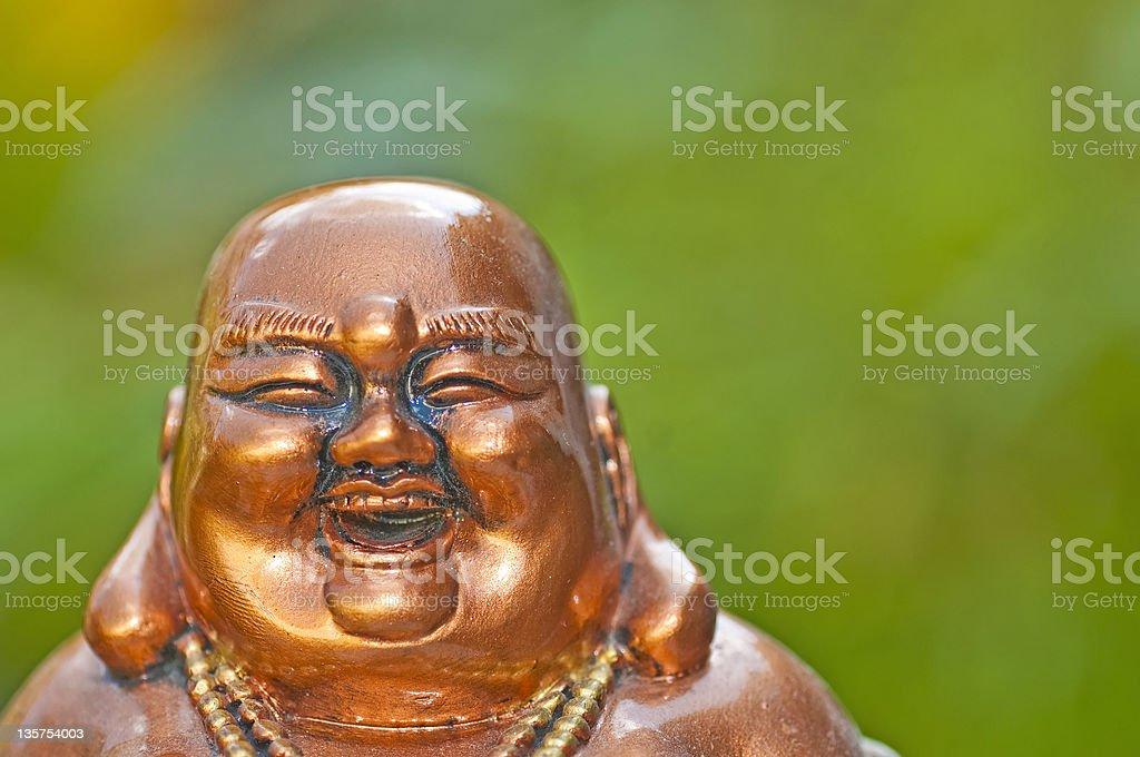 Buddha laughs stock photo