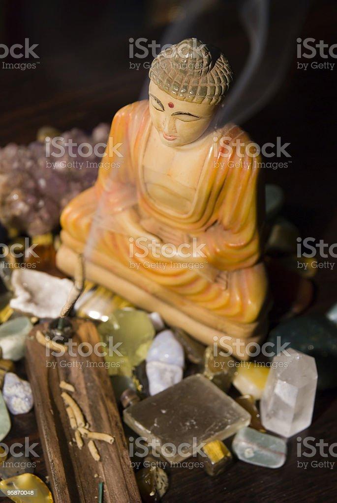 buddha meditation stock photo