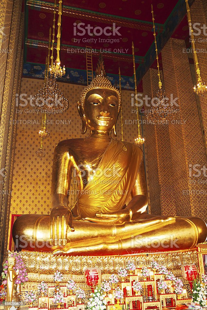 Buddha of temple Wat Kanyalanamit royalty-free stock photo