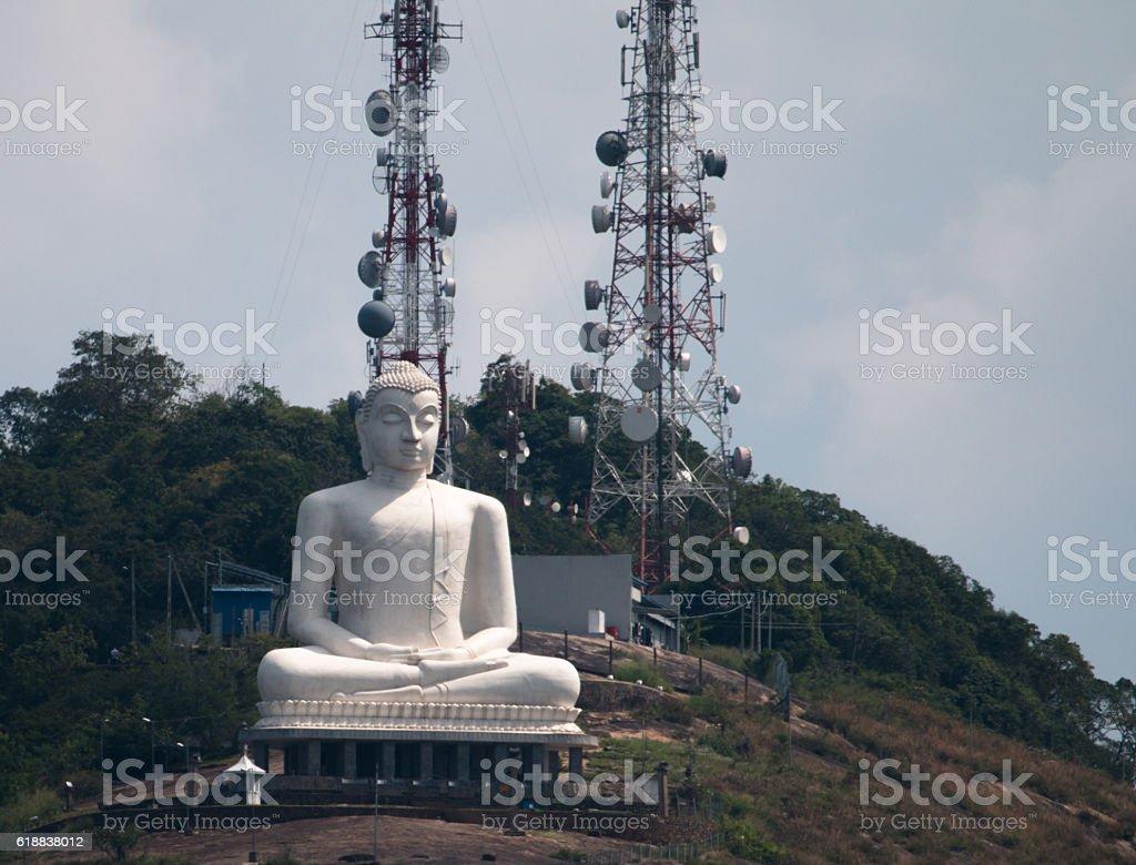 Buddha on call stock photo