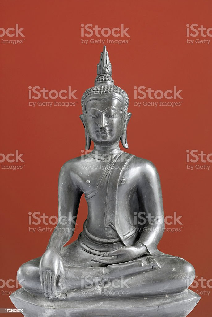 Buddha on red royalty-free stock photo