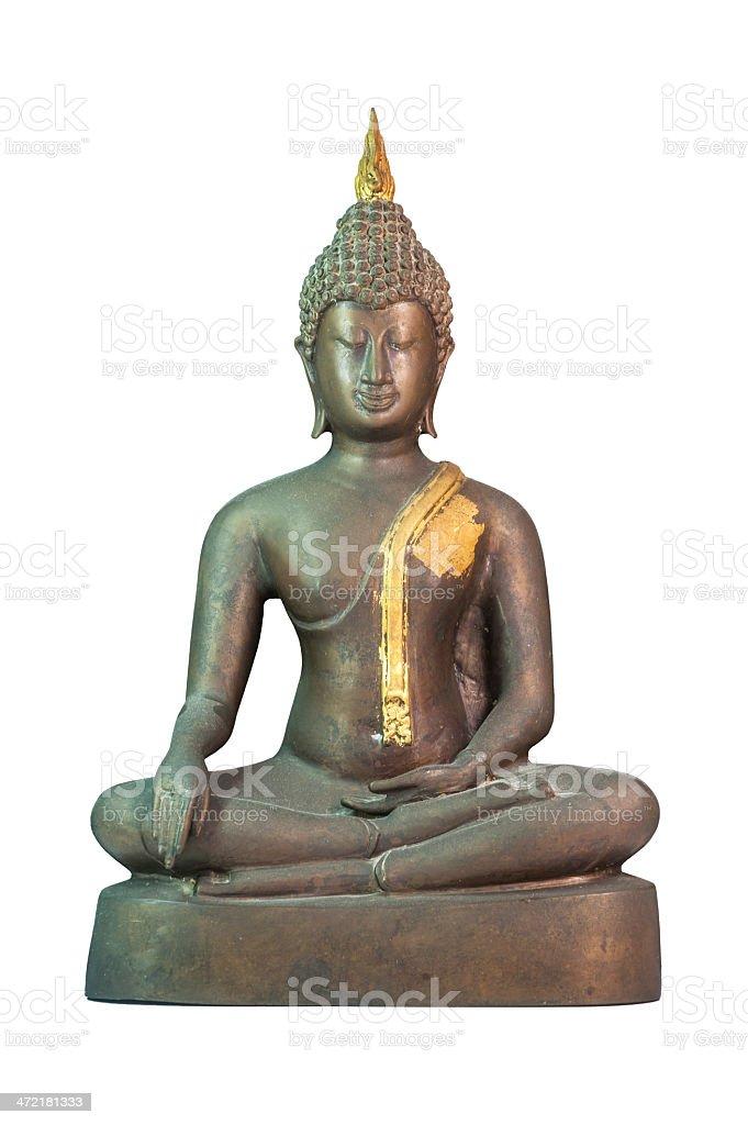 Buddha on white background stock photo