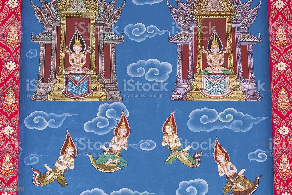Buddha painted image. stock photo