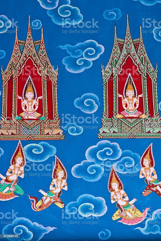 Buddha painted image. royalty-free stock photo