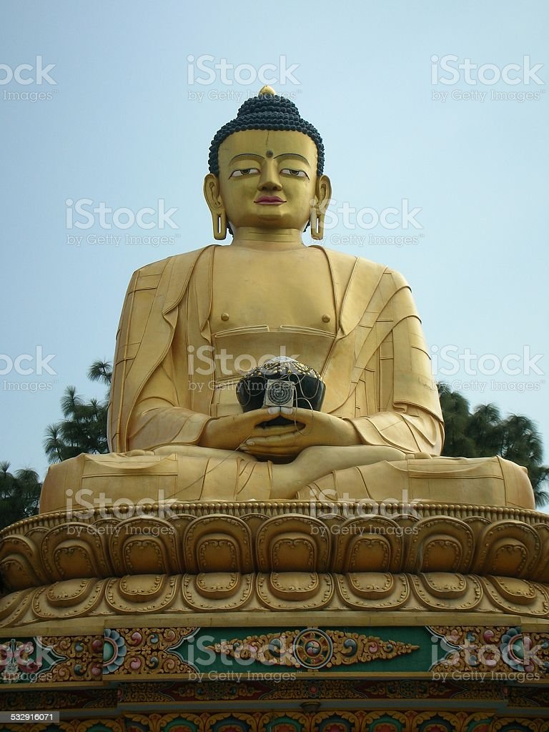 Buddha Park at Swayambhu, Kathmandu, Nepal stock photo