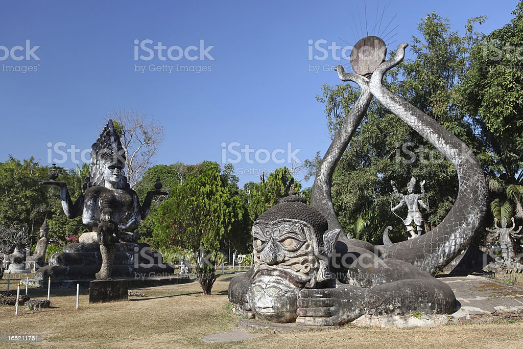 Buddha Park, Laos stock photo