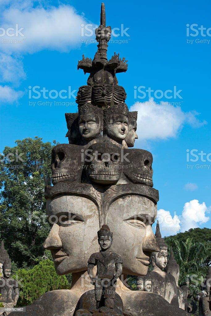 buddha park of vientiane stock photo