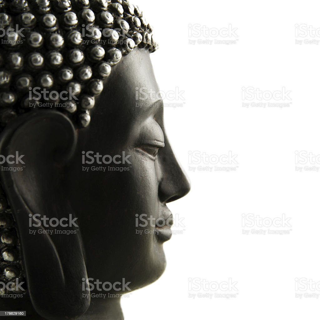 Buddha Profil isoliert stock photo