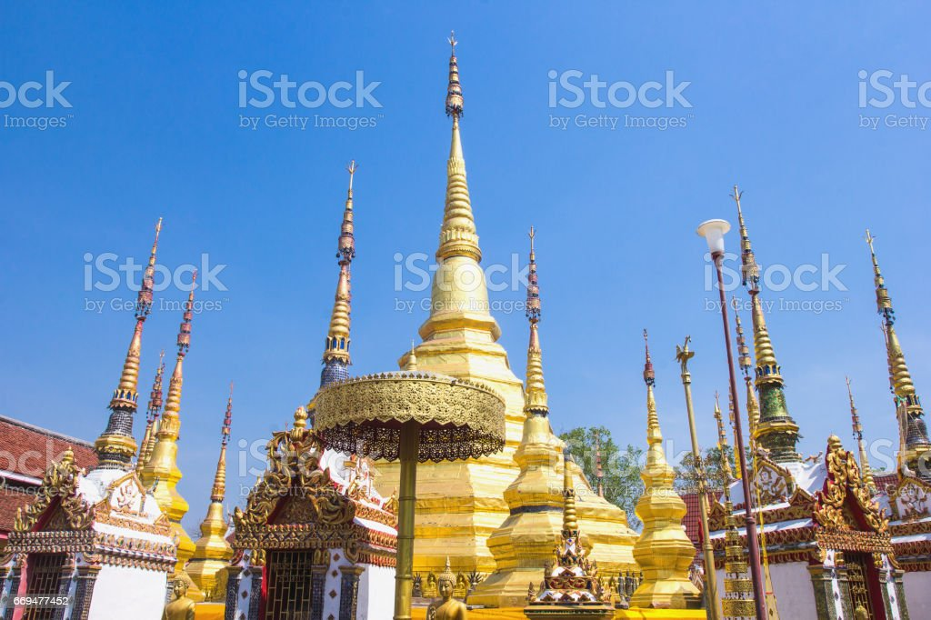 Buddha s relics at Tak, Thailand stock photo