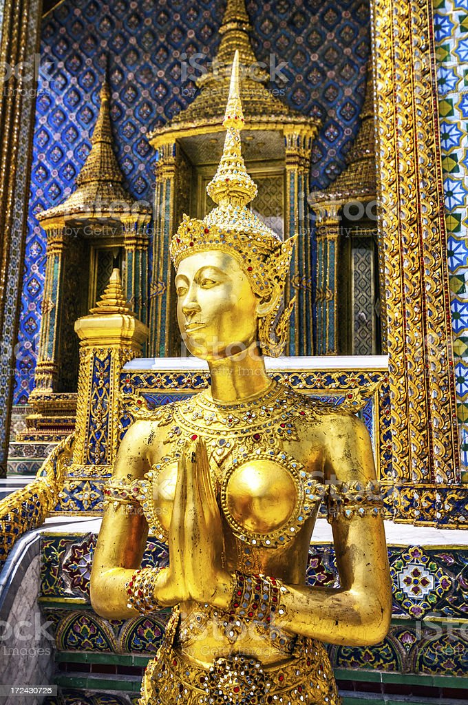 Buddha sculpture in Grand Palace Thailand royalty-free stock photo