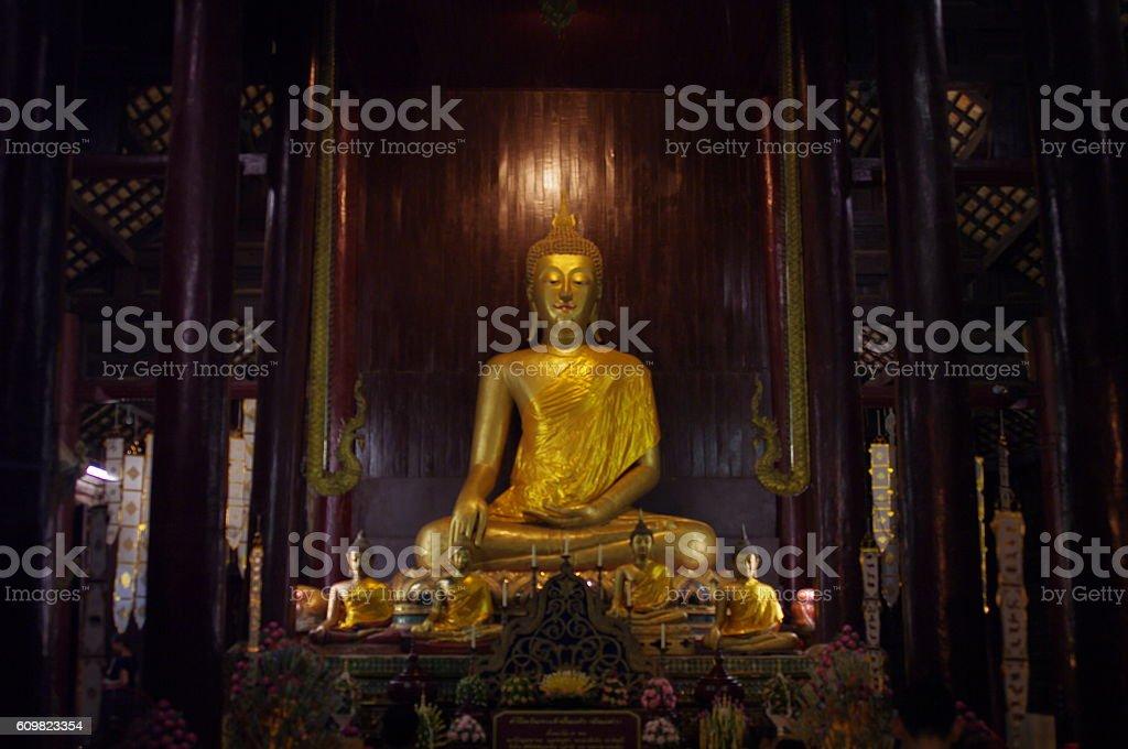 Buddha sculpture. stock photo