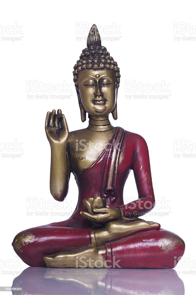 Buddha series, with Clipping Path stock photo
