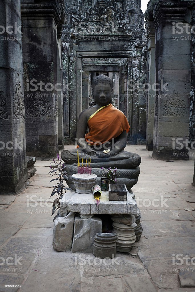 Buddha Shrine in Angkor Wat, Cambodia royalty-free stock photo