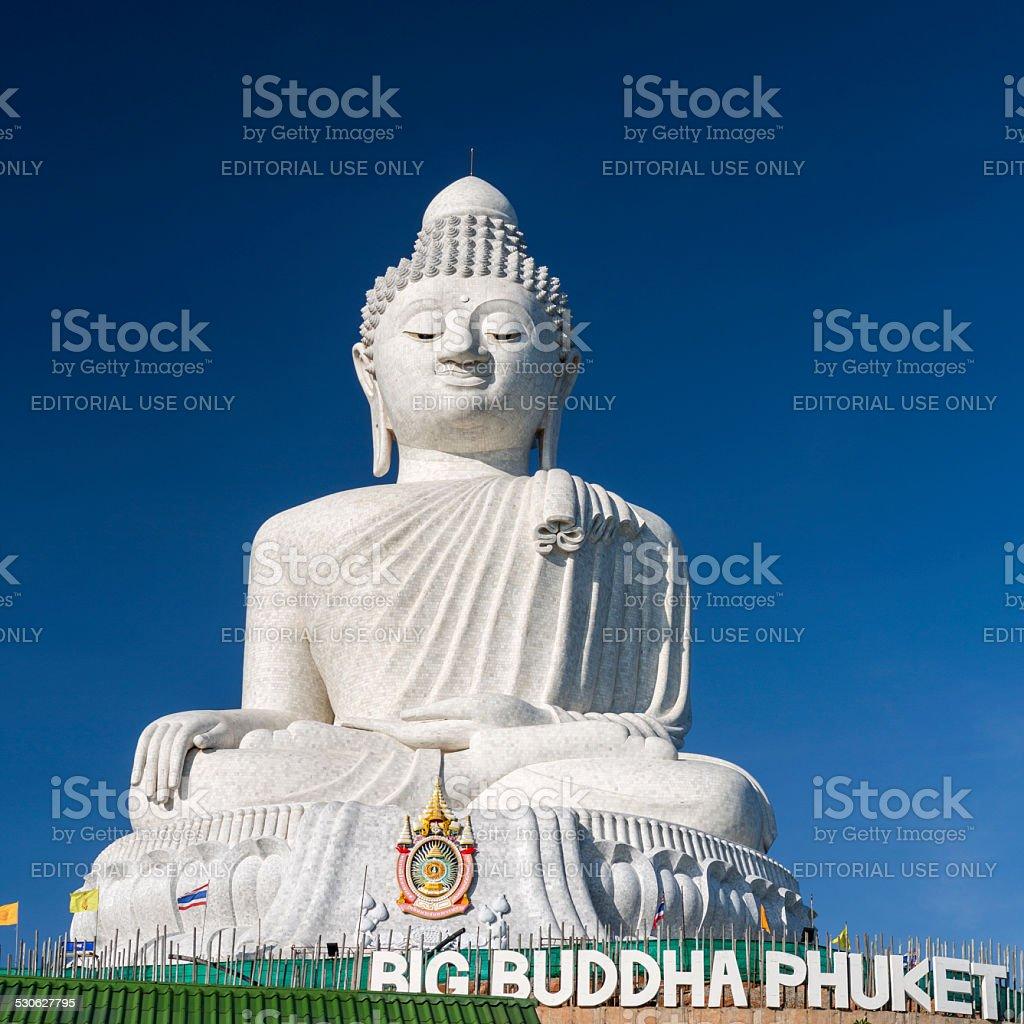 Buddha statue against blue sky in Phuket Thailand stock photo