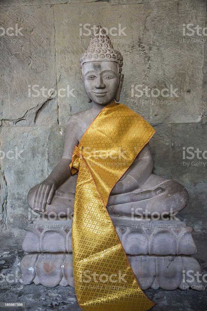Buddha Statue Angkor Wat. Tradition, Religion, Culture. Cambodia stock photo