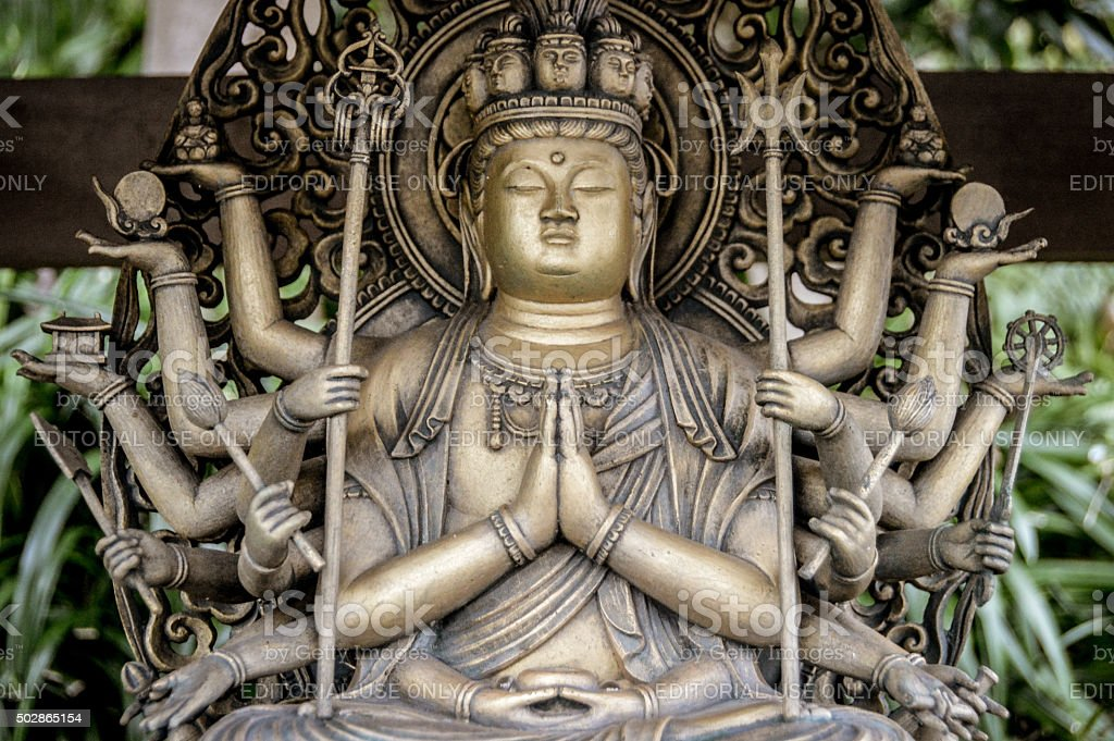 Buddha statue at the Hasedera Temple - Kamakura, Japan stock photo