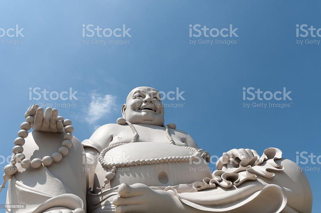 Buddha Statue At Vinh Trang Pagoda In My Tho, Vietnam stock photo