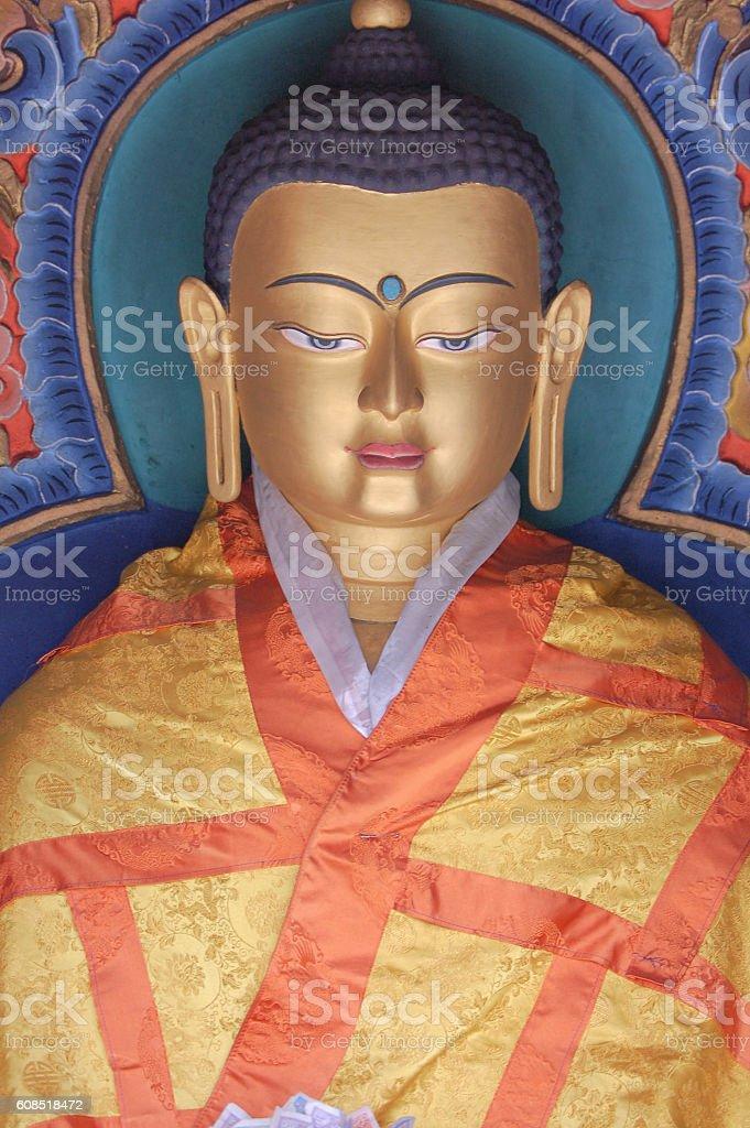 Buddha Statue Bhutan stock photo