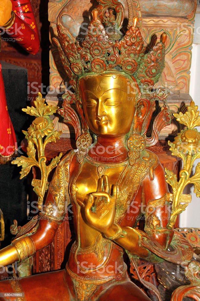 buddha statue close up stock photo