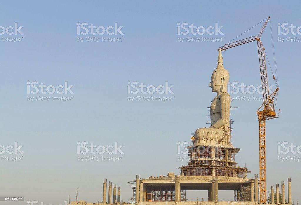Buddha statue construction. royalty-free stock photo