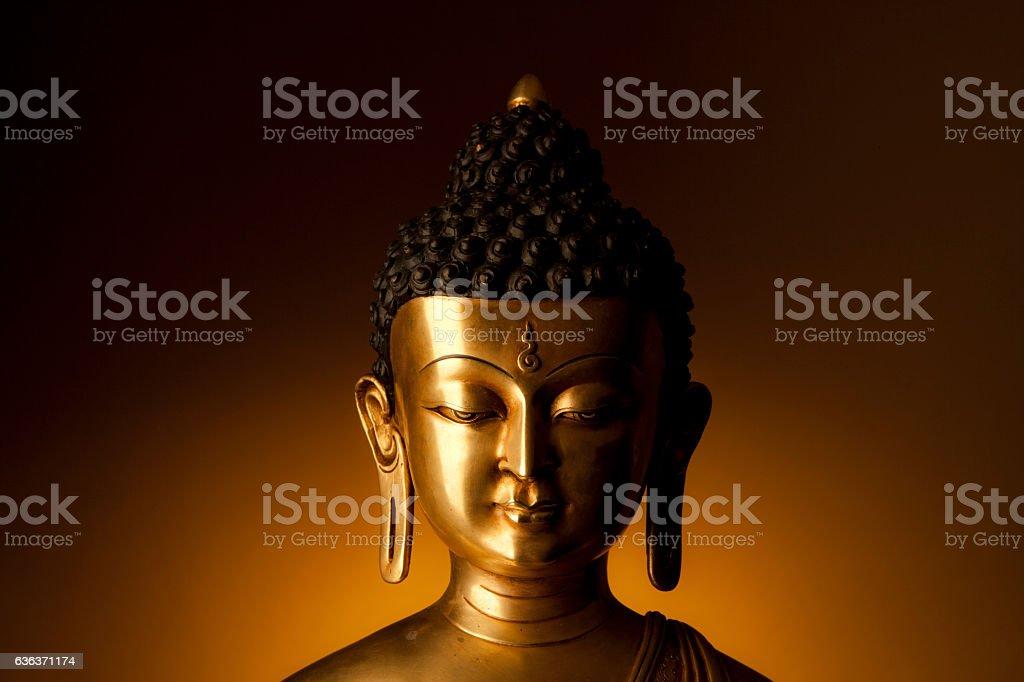 Buddha statue head stock photo