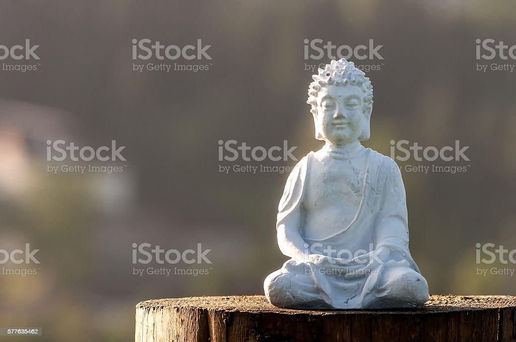 Buddha statue image used as amulets of Buddhism. Religion concept stock photo