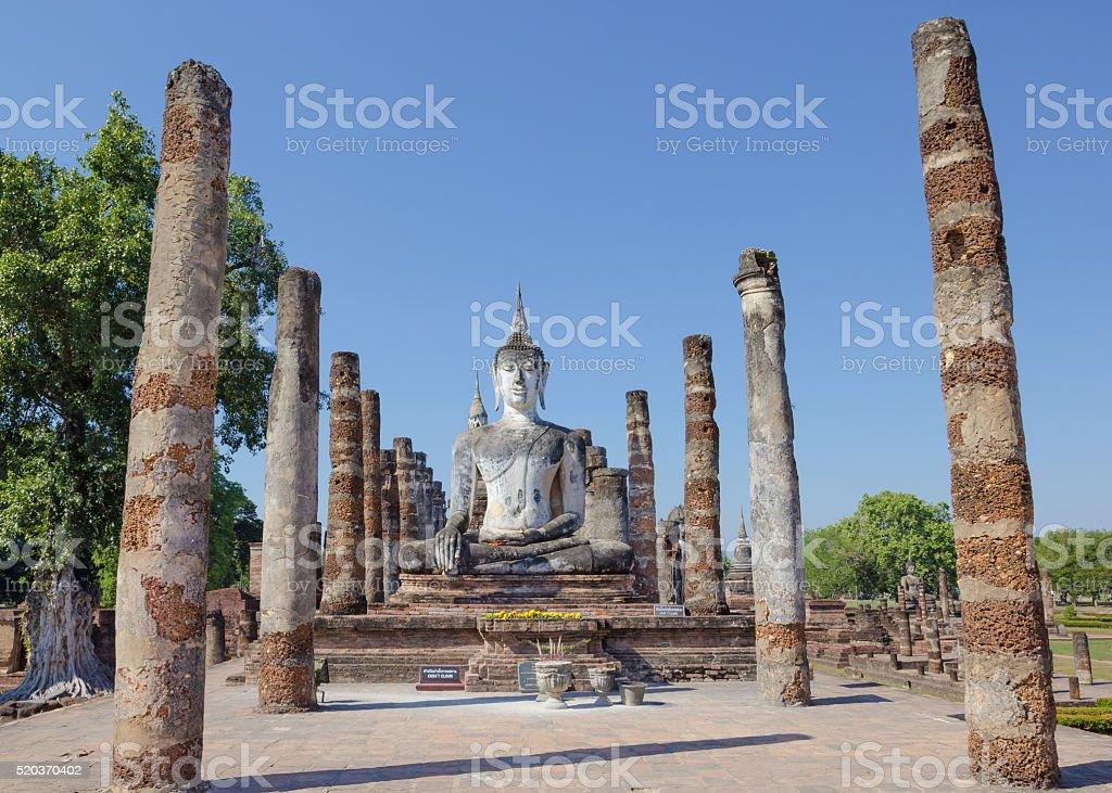 Buddha statue in a temple,Sukhothai,Thailand stock photo